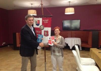 Tom Koster reprezentant Klubu Rotary w Holandii