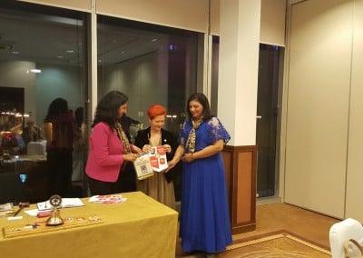 Przedstawicielki klubów Rotary i Rotaract w Chennai w Indiach z Prezydent Klubu Rotary Warszawa-Józefów