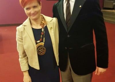 Maciej Miszczak z Prezydent Klubu Rotary Warszawa-Józefów